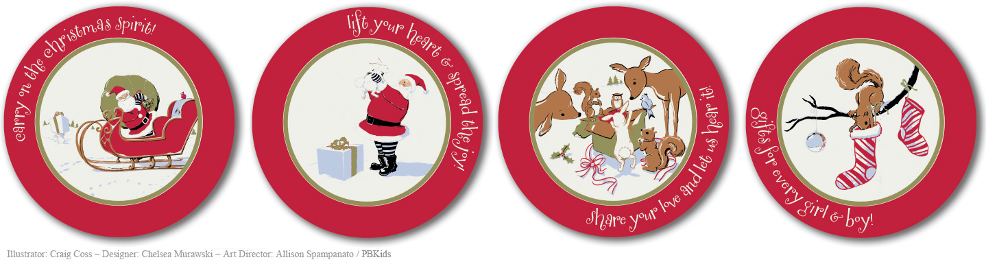 Christmas Holiday Plates for PBKids 2011